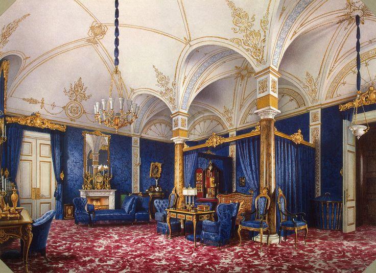 Winter Palace Bedroom Of The Empress Mariia Aleksandrovna By Premazzi