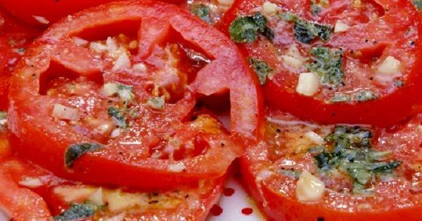 Маринованные помидоры по-итальянски за 30 минут.