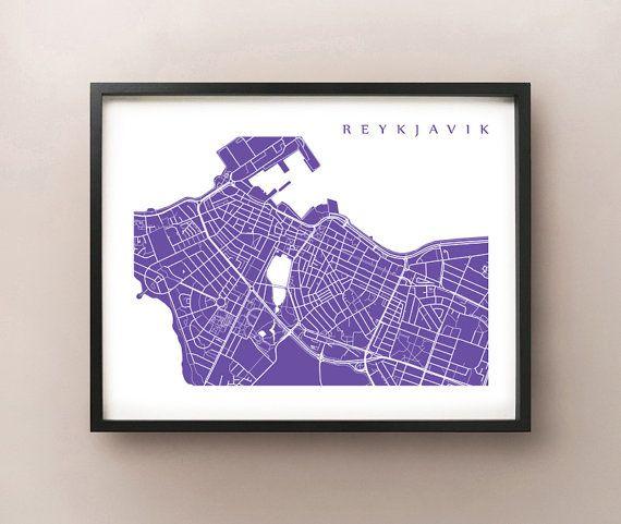 Reykjavik, Iceland map art by CartoCreative