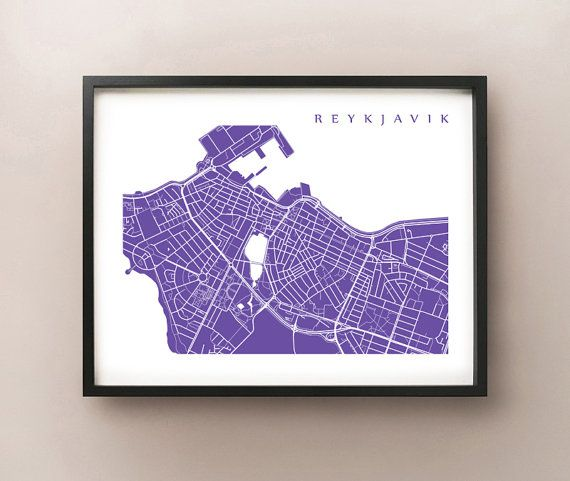 Reykjavik, Iceland map art by CartoCreative