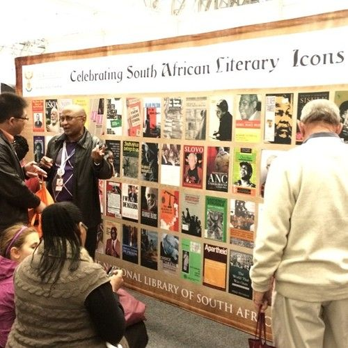 Today we are celebrating South African Literary Icons during this year SA Book Fair with one of @Department of Arts And Culture institutions #NationalLibraryOfSouthAfrica