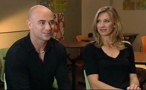 They scores perfect Ace.. Andre Agassi and Steffi Graf