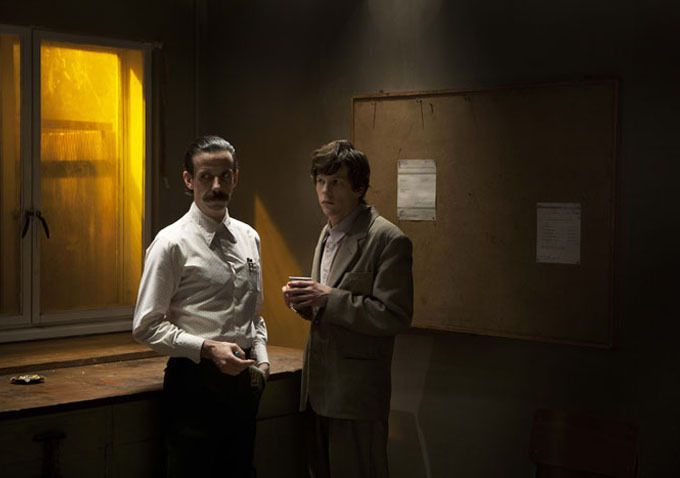 "Jesse Eisenberg and Noah Taylor in ""The Double"" ( Richard Ayoade ) 2014"