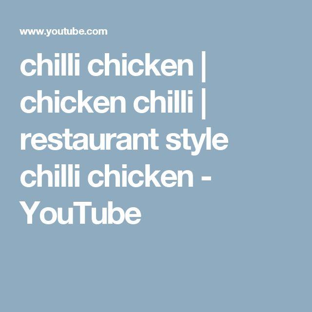 chilli chicken | chicken chilli | restaurant style chilli chicken - YouTube