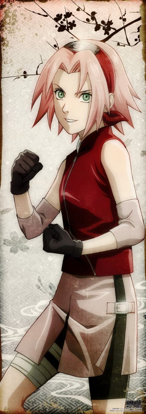 SAKURA! I don't see how people call her useless,she pretty helpful.. at times