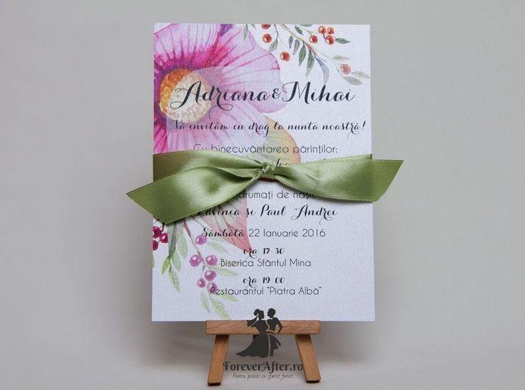 Invitatie de nunta Flower Warm   Invitatii de nunta - Romantice   ForeverAfter.ro
