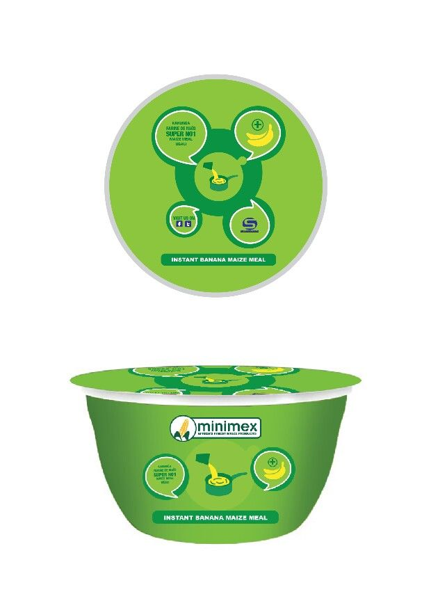 minimex new product - instant banana maize meal . . . infant version to be designed . . .
