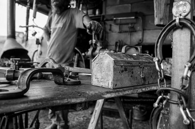 blacksmith and his workshop at The Great Manawatu Steam Fair