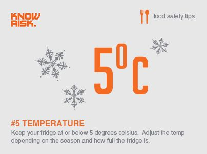 food safety tip no5 keep your fridge at or below 5