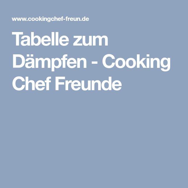 Tabelle zum Dämpfen - Cooking Chef Freunde