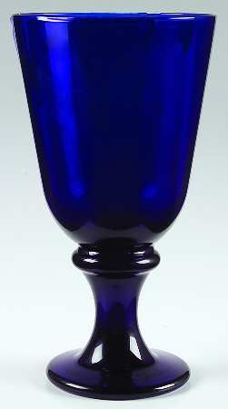 Libbey Glass Company Flare Cobalt Blue Water Goblet