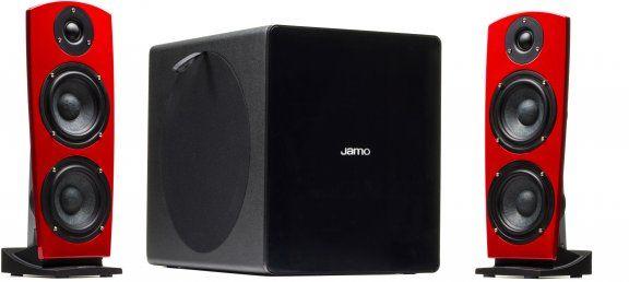 Jamo DS7 ‐2.1-kaiutinjärjestelmä, punainen – 2.1 – Kaiutinjärjestelmät – Kaiuttimet – Audio ja hifi – Verkkokauppa.com