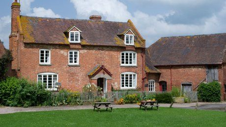 Another beautiful, dog friendly National Trust Property.The exterior of The Oast House, Whitbourne, Herefordshire