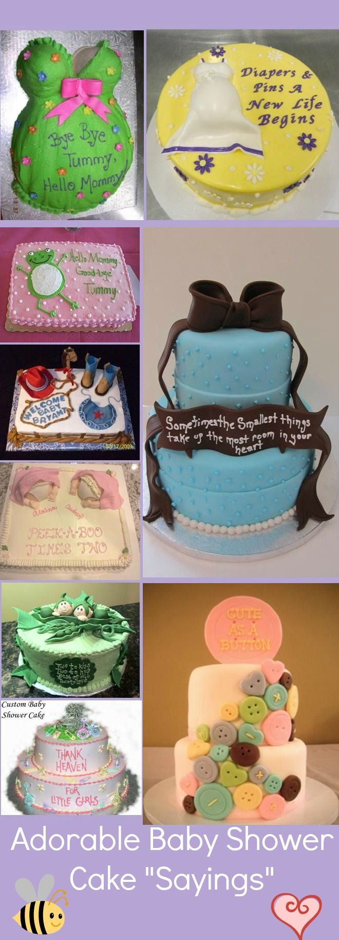 10 adorable Baby Shower Cake Ideas. Great if you need a catchy baby shower saying on your #cake. #babyshower #babyshowersayings