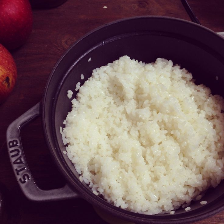 ストウブで炊いたごはん  Rice that was cooked in Staub