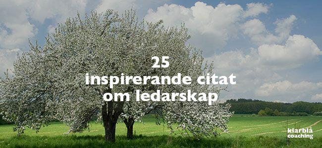 25 kloka och inspirerande citat om ledarskap. | www.klarblacoaching.se