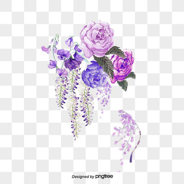 Ink Flower Flower Vector Color Ink Flower Png Transparent