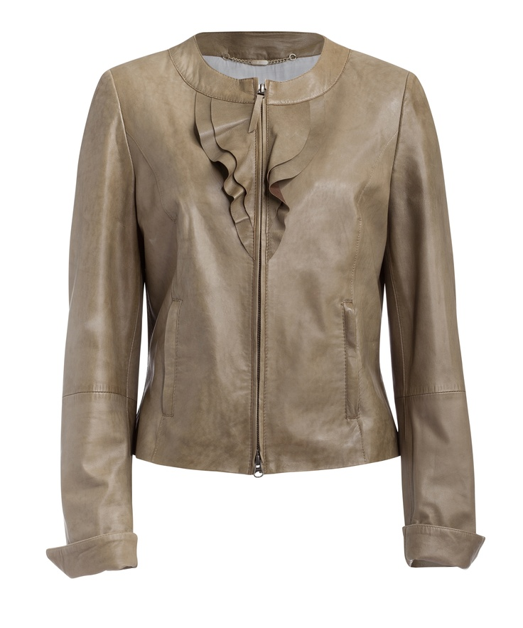 Zip front super soft lamb leather jacket