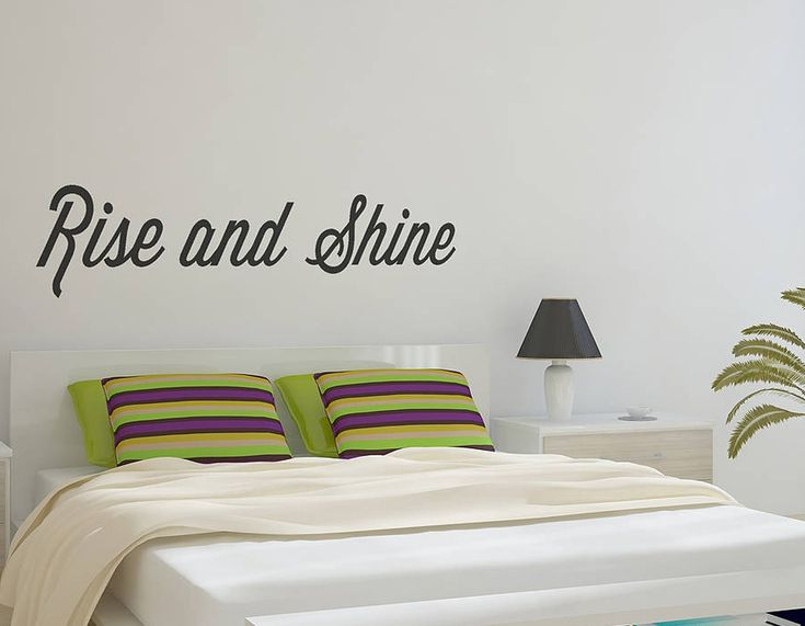 u0027Rise And Shineu0027 Wall Sticker - Contemporary Wall Stickers  sc 1 st  Pinterest & 112 best wall art stickers images on Pinterest | Contemporary wall ...