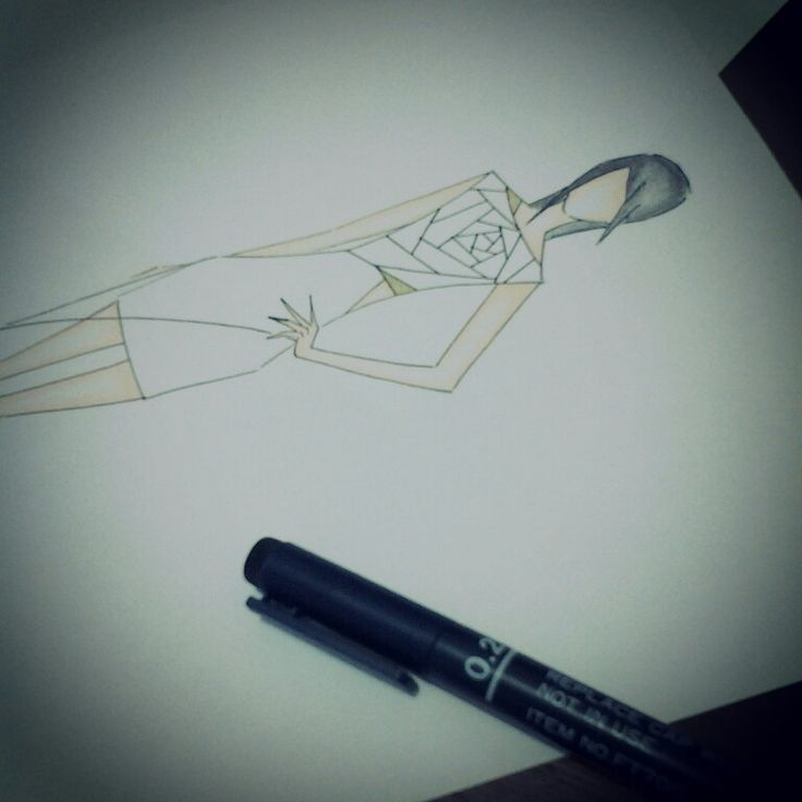 #fashion #sketch got the inspiration from my favorite tv show about fashion