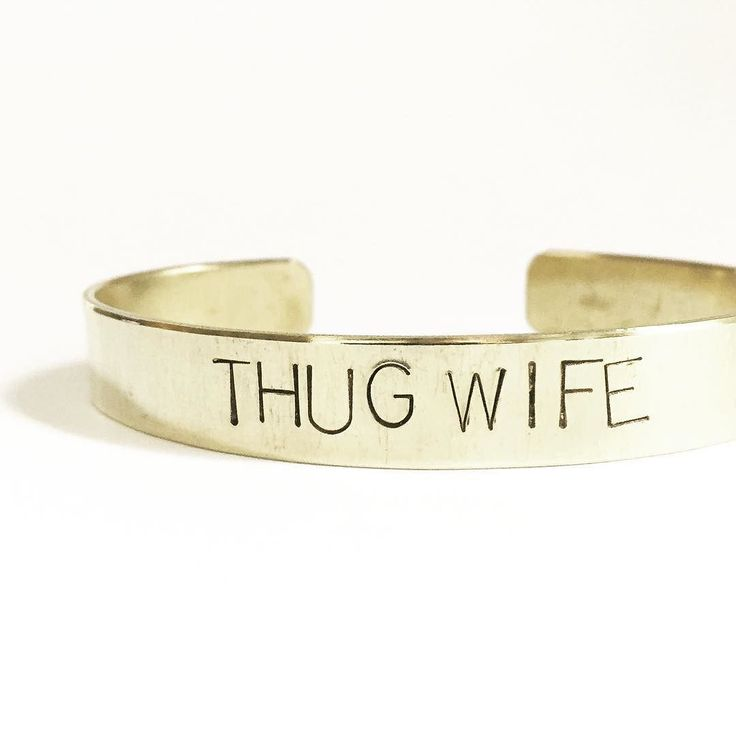 "shopgagehuntley // Basically. #thugwife  Gangster rap and yoga pants   Get this now at GageHuntley.com  Shown: custom cuff in the wide 3/8"" width."