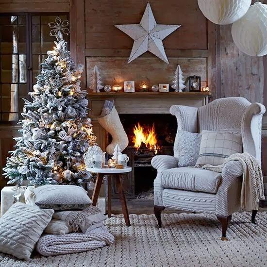 ¿Que sería de la Navidad sin el fuego ardiendo en la chimenea?