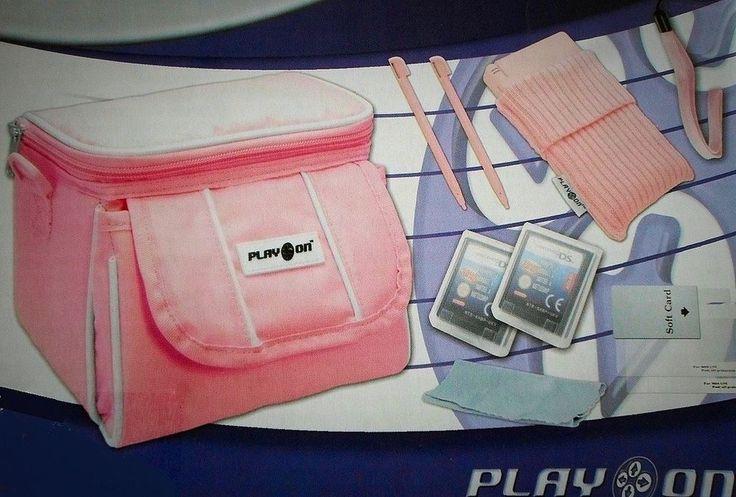 New Pink Nintendo DS Lite/DSi/DSi XL/3DS/3DS XL Travel Bag Carry Case