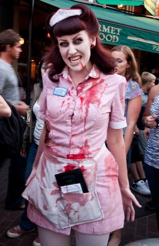 zombie makeup waitress - Google Search | aw hell, admit it ...