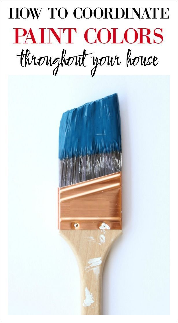 How to Coordinate Paint Colors Throughout Your House - oh my goodness, I SO wish I would have known about this trick sooner!! It would have saved me so much time and paint samples!