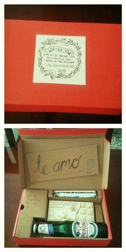 Caja sorpresa de cumpleaños para mi chico