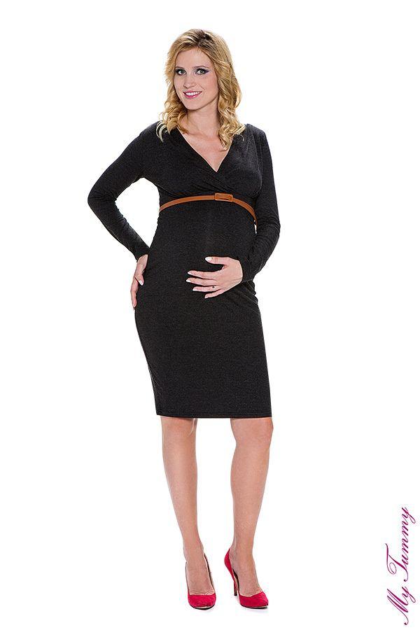 Sukienka ciążowa Carla antracyt