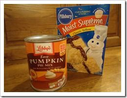 2 ingredient pumpkin muffins?? no way! :)