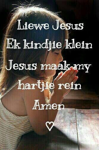 Afrikaans kindergebed