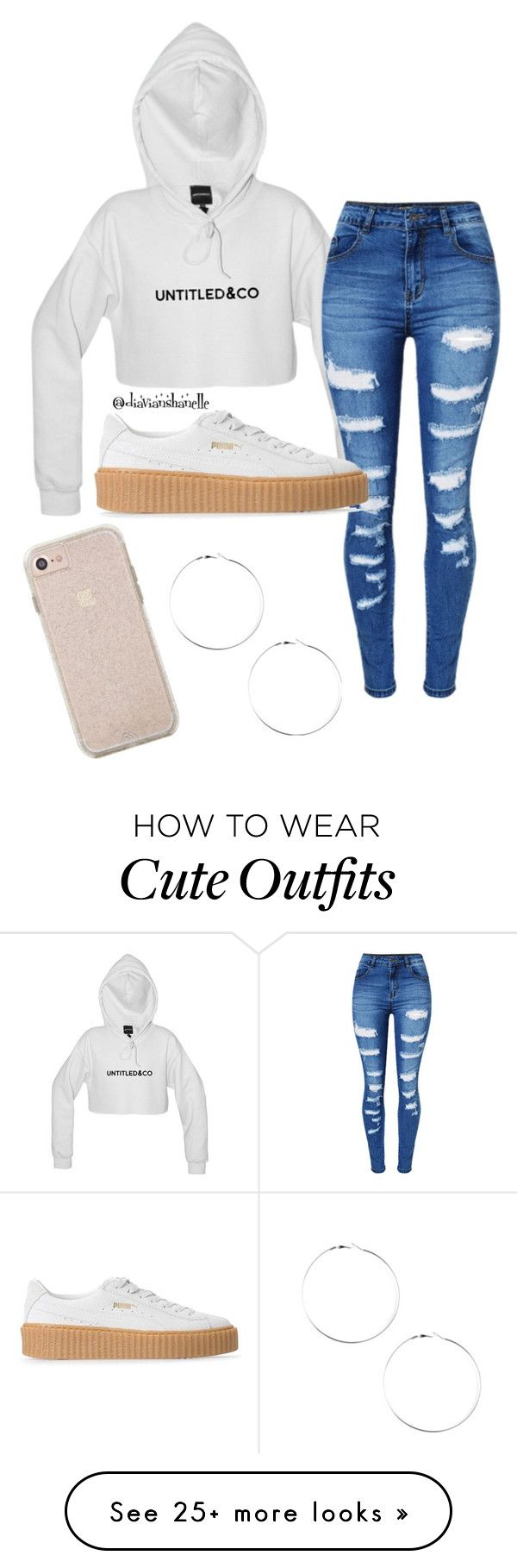 """Cute Mall Outfit"" by diavianshanelle on Polyvore featuring WithChic, Puma, puma and mall"