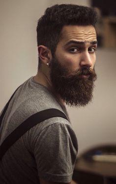 I don't dig the earrings, but nice beard!