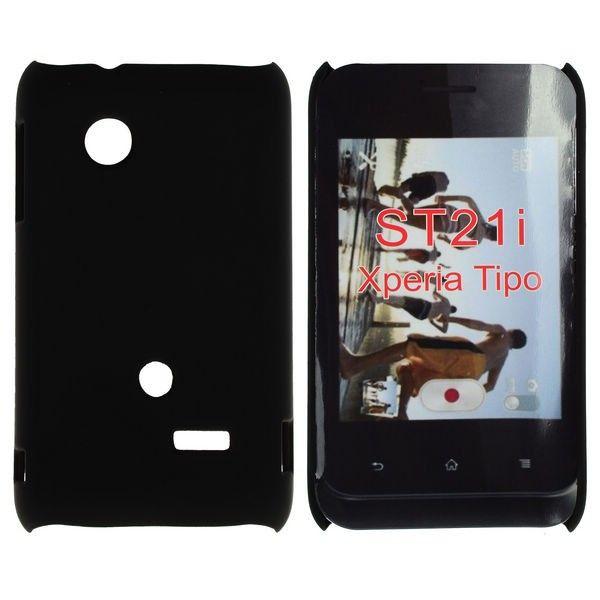 Hard Shell (Sort) Sony Xperia Tipo Deksel