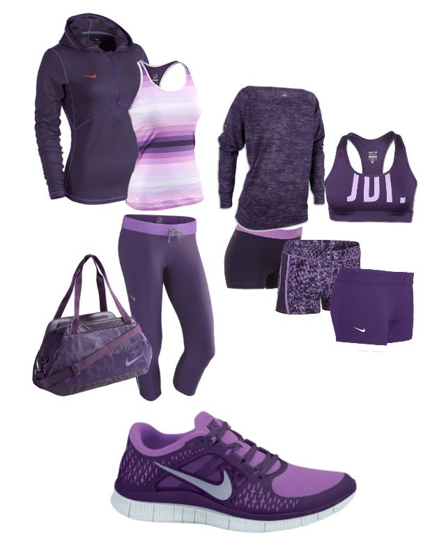 Purple Nike gear. Dreamed it...now I must have it.