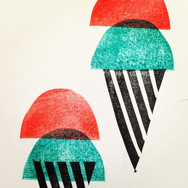 You scream for ... Ice cream screenprinting print design!