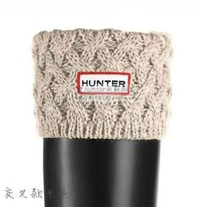 Cross-Snowflake-knit-Cuff-Hunter-Welly-Short-Socks-For-Short-Rain-Boots-Liners