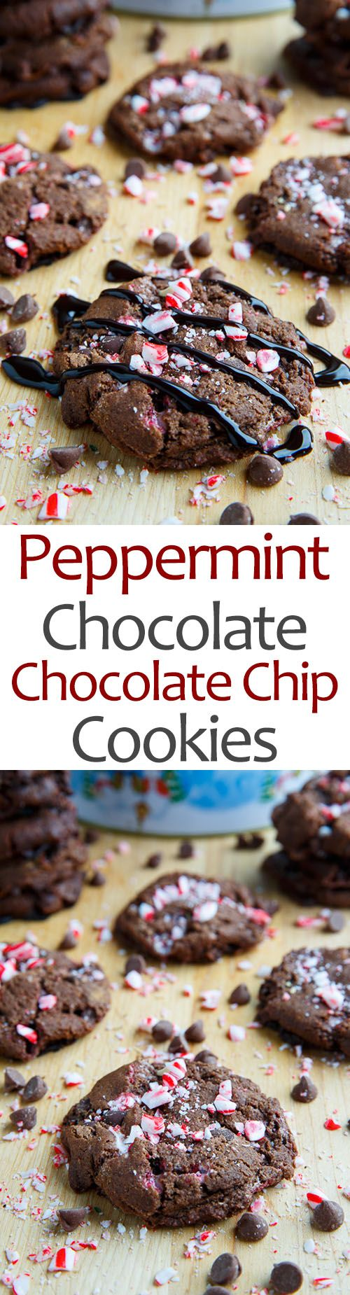 Peppermint Chocolate Chocolate Chip Cookies                                                                                                                                                                                 More