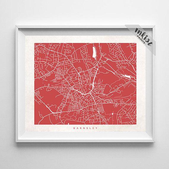Barnsley Map, England Print, Barnsley Poster, England Art, Anniversary Gift, Custom Gifts, Arty Print, Holiday Gift, Christmas Gift, Wall Art. PRICES FROM $9.95. CLICK PHOTO FOR DETAILS.#inkistprints #map #streetmap #giftforher #homedecor #nursery #wallart #walldecor #poster #print #christmas #christmasgift #weddinggift #nurserydecor #mothersdaygift #fathersdaygift #babygift #valentinesdaygift #dorm #decor #livingroom #bedroom