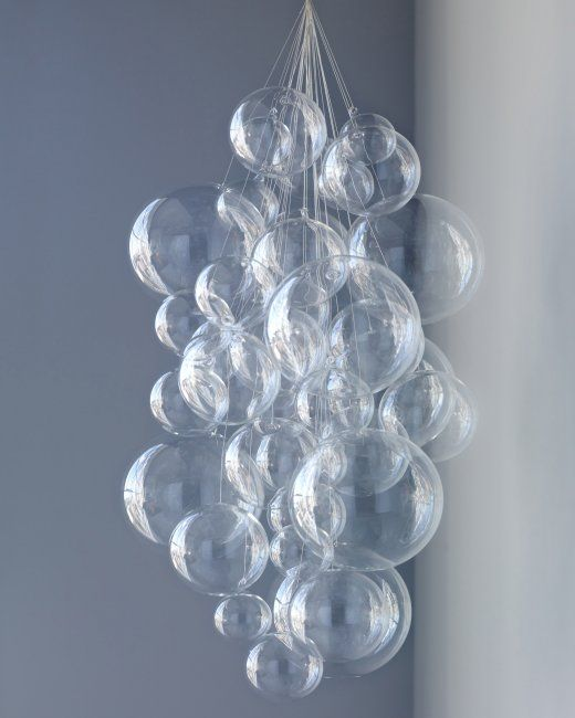 DIY Bubble Chandelier ~ Create an easy, sophisticated hanging decoration.