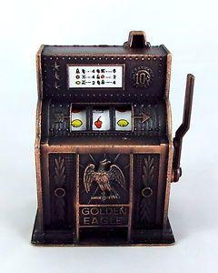 Dolls-House-Miniature-Pub-Bar-Shop-Arcade-Accessory-Old-Fashioned-Slot-Machine
