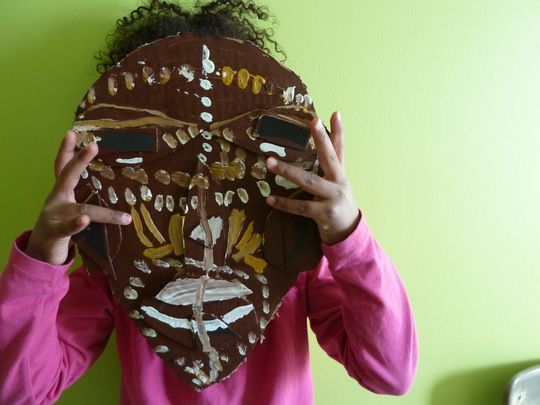 Africa Activities for Preschoolers   Cool Crafts for Kids - African Masks - The Chaos and the Clutter