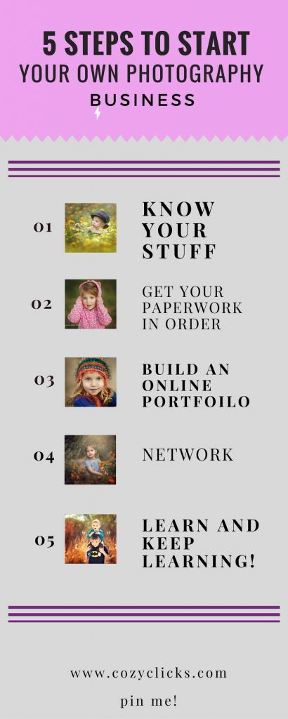 Easy things you can do to start your photography company today! read more here or pin to read later!