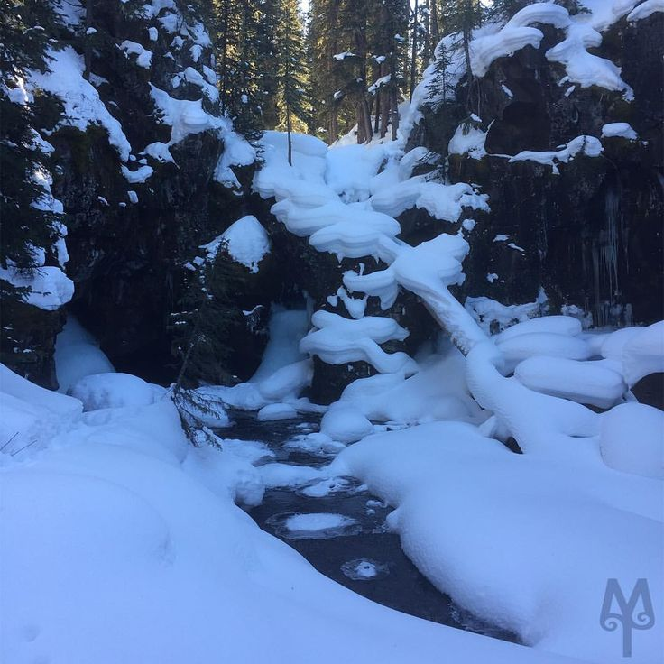 Arch Falls is a fantastic Winter hike; and, it's right in Bozeman's backyard. Check out crazy icicles, ice sculptures, and snow draped on everything as if it was whip cream.  Hike Montana. https://montana-treasures.com/pages/hike-montana