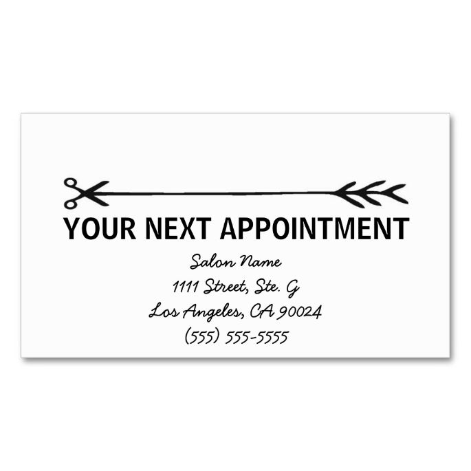 2211 best Appointment Business Card Templates images on Pinterest - sample appointment card template
