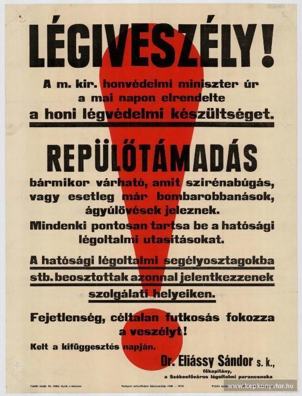 Légiveszély!, 1910s