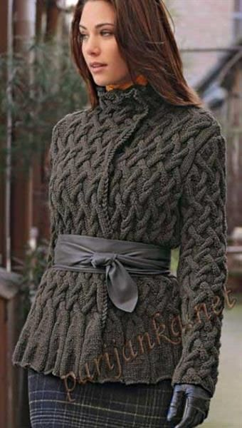 Куртка спицами женская