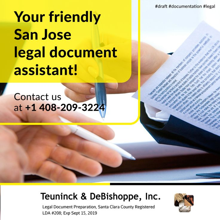 your friendly San Jose legal document assistant! in 2020